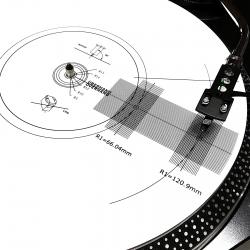 Mata stroboskopowa Pro-Ject Strobe it | szablon kalibracji wkładki