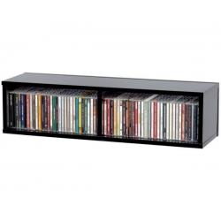 Półka na płyty CD (60 płyt) - czarna