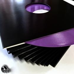 "Koperta kartonowa 12"" PREMIUM | czarna 10szt. | OKNO"