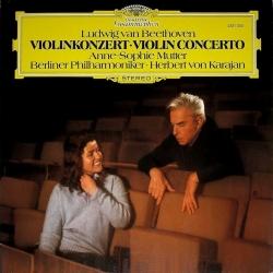 Beethoven: Violin Concerto - Anne-Sophie Mutter, Herbert Von Karajan, HQ 180G Deutsche Grammophon 1980